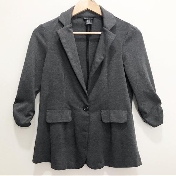Soho Apparel Jackets & Blazers - Soho Apparel LTD Dark Grey Blazer